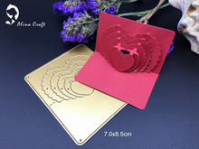 Metal cutting dies 3D stereo concentric sweet heart   Scrapbook card paper craft home decoration embossing stencils cutter
