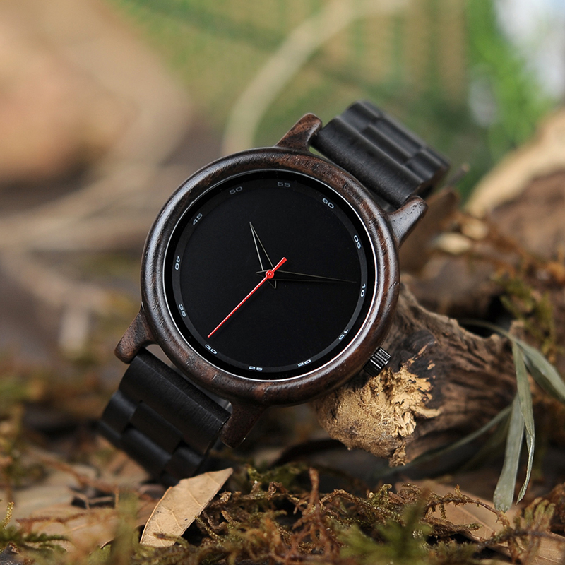 BOBO BIRD Male High Quality wrist Watch Bamboo Wooden Watches Men in gift box custom logo erkek kol saati 3
