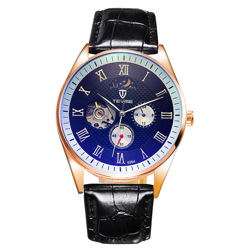 NEW Male watches luxury Brand automatic mechanical Wrist watch men Tourbillon hollow waterproof Moon Phase Luminous 0264<br>