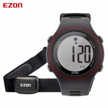 EZON T037 Chest Strap Heart Rate Monitor Sport Watch Men Digital Alarm Chronograph Waterproof Back Light Electronic Wristwatches(China)