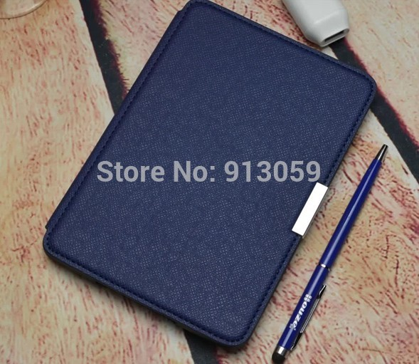 1:1 original pu Leather smart Cover Case  For Amazon Kindle Paperwhite 2013 6 ereader case+screen protective film +stylus<br><br>Aliexpress