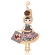 D & Rui Jewelry Pendant Enamel Drop Glaze Doll Necklace Trendy 2017 News Alloy Girl Women Necklace Fashion Jewelry Accessories(China)