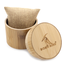 BOBO BIRD Gift Bamboo Watch Round Case Solid Bamboo Round box Top Quality Cylinder Jewelry Set Storage Case(China)
