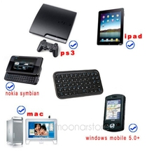 New arrival Ultra Slim Mini Bluetooth V3.0 2.4GHz Keyboard For Iphone 4/PS3/PC/PDA + Free USB cable(China)