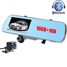 "5.0""LCD Rearview Mirror Camera Android 4.2 GPS Navigation Full HD 1080P Dual Lens Car DVR 16GB Bluetooth WiFi Dash Cam Recorder(China)"