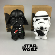 10cm Cute Star Wars Darth Vader & Stormtrooper Action Figure Toy Black Worrior PVC Model toys for boys with Retail Box