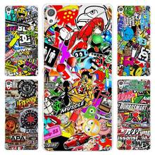 Hot Sale Sticker bomb Clear Cover Case for Sony Xperia Z1 Z2 Z3 Z4 Z5 M4 Aqua M5 XA XZ C4 E5 l36h