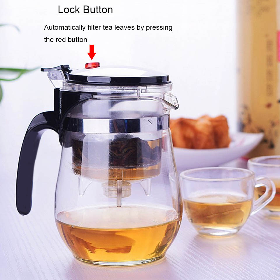 BORREY Heat Resistant Glass Teapot With Infuser Filter Chinese Kung Fu Puer Oolong Tea Teapot 500Ml Kamjove Tea Pot Water Kettle 5