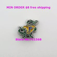 Florida Gators Locket Charm For Memory Glass Floating Locket Accessories(China)