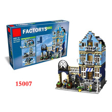Classic Work 15007 Street View Series Out of Print European Market Street  Mini Blocks figures Compatible with 8876