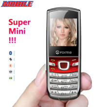 Super Mini!Metal body!English+Russian Keyboard Original FORME T3 Unlocked Pocket Cell Phone Mobile Phone Free Shipping In Stock!