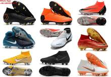 72a7bfb1ae2 Mercuriales Superfly V FG AG CR7 Ronaldo Soccer Cleats High Ankle Neymar JR  Shoes Magista Obra