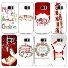 H134 Merry Christmas Transparent Hard PC Case Cover For Samsung Galaxy S 3 4 5 6 7 8 Mini Edge Plus Note 3 4 5 8(China)