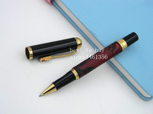 ROLLERBALL PEN Golden Dragon With Exquisite pattern Wine red
