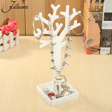 New Multifunctional Tree Branch Shape White Black Color Jewelry Display Earring Bracelet Necklace Ring Display Stand for Jewelry