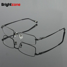 Free Shipping 100% Pure Titanium Full Rim Brand Eyeglasses Men Optical Spectacle Frame Eye Prescription Glasses Oculos De Grau(China)