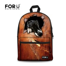 Trendy Fashion Boys School Bag Zoo Cat Dog Printing Children School Bag for Kids Casual Men's Schoolbag High Book Bags