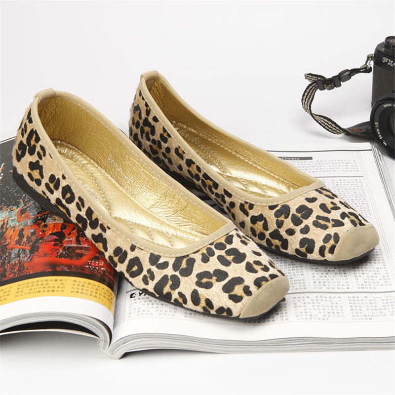 Sexy Leopard Brand Luxury Shoes Women Flats Square Toe Slip On Loafers Ladies Shoes Japanese Fashion Plus Size Women Shoes 35-40<br><br>Aliexpress