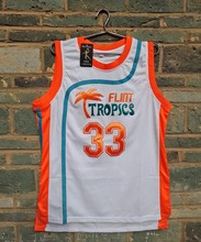 LIANZEXIN Jackie Moon Jersey Flint tropical #33 semi-professional Men basketball movie throwback jerseys White color cheap sale