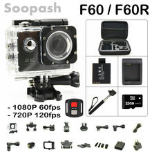 New Arrival Bundle! Original F60/ F60R Wifi Action Camera 4K Remote Controller Extreme Mini Diving Cam Waterproof Sport Camera