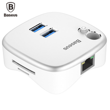 Baseus Notebook Expansion Dock SD TF Card Gigabit Network Card Interface USB 3.0 Multiple Charger Adapter Read Station For PC(China)