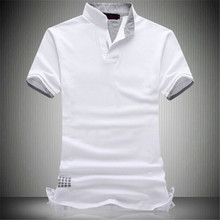High quality business men's wear, 2017 summer short sleeve T-shirt, men's V collar, half sleeve plus big size 6XL 7XL(China)