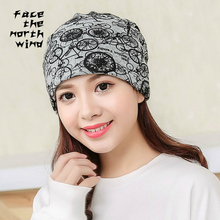 Scarf hat dual-purpose Cap cap Men women Riding The wind Keep warm Bicycle Cotton autumn Hat thin(China)