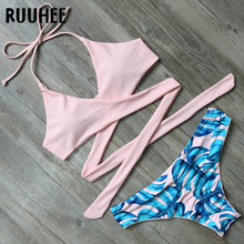 Buy RUUHEE Bikini Set Swimsuit Swimwear Women Bikini Sexy Bandage Beachwear Padded Bathing Suit Push 2018 Swimming Suit Women