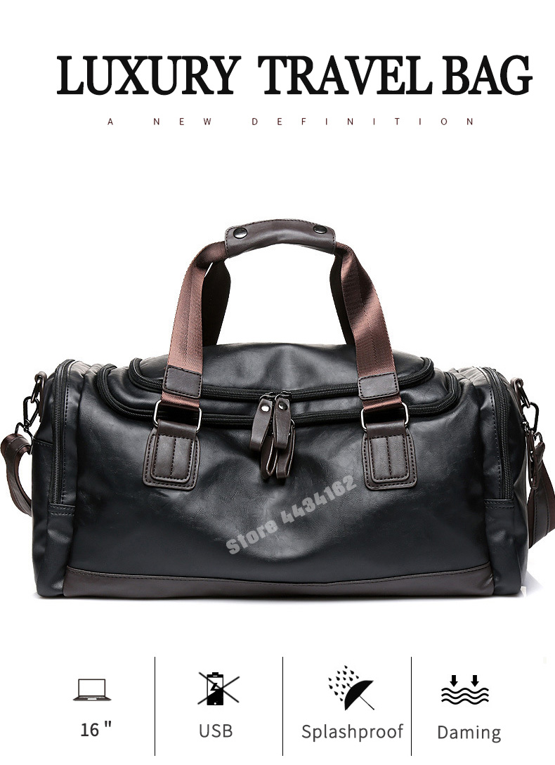 c53abef21c Travel Bags Cheap Travel Bags Luxury PU Leather Travel Duffle Bag Man.We  offer the best wholesale price