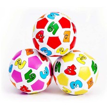 Kids Children Beach Ball Toy Education Sport Toys Baby Learning Colors Numbers Rubber Balls Plaything