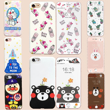 2016 New China cute fashion case For apple iPhone 6 6S 7 Plus case silicone On the iPhone 6 6s 7 Plus cases soft cover Coque