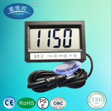 "1.9"" Mini Digital LCD Indoor/Outdoor temperature meter with Clock In & Out LCD Dual-Way Digital Car Thermometer & Clock ST-2"