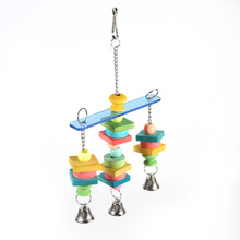 1pcs New And Colorful Wooden Chew Hanging Bridge Toys Provide Pet Bird Parrot Chewing Play And Rest Place(China)