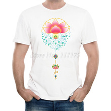 New Arrivals 2017 Men's Fashion Abstract Lotus Printed T Shirt Cool Summer Tops High Quality Casual Tee
