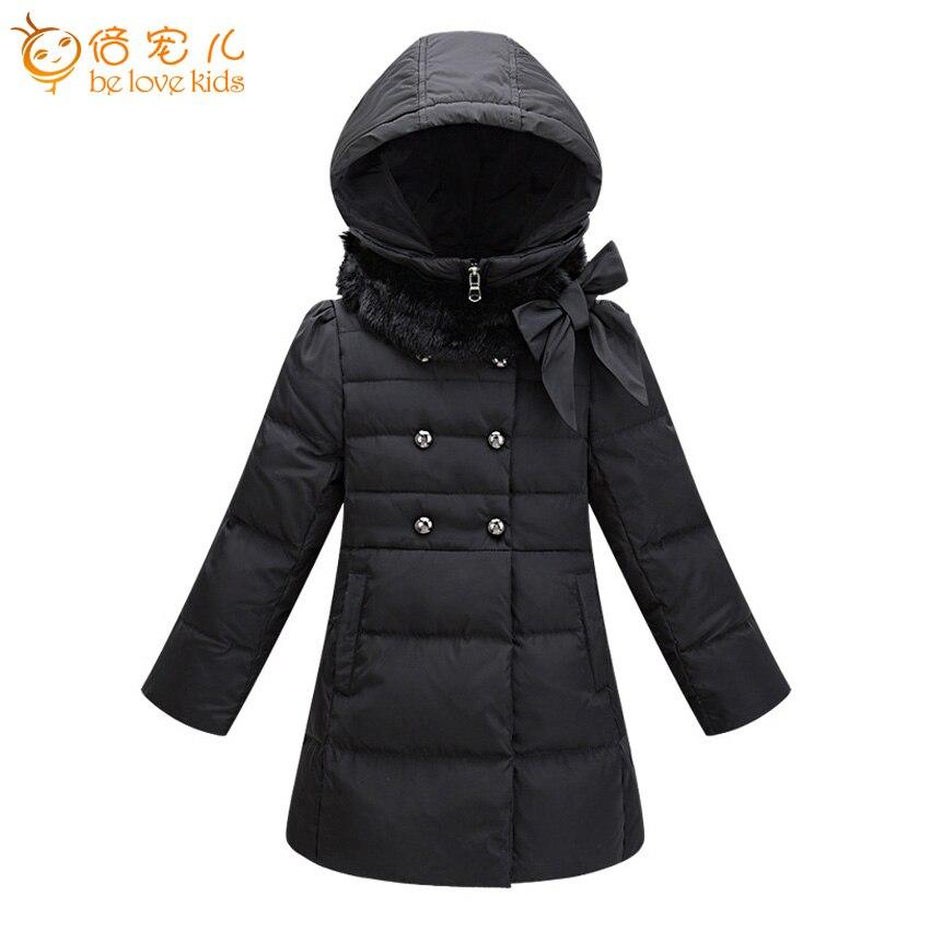 2016 new style winter girls coat long white duck down coat thick warm hooded girls parka jackets children clothing ZL62-1Îäåæäà è àêñåññóàðû<br><br>