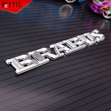 High Quality Chrome Car Styling ABS Silver Car Emblem Badge Adhesive Label Car Racing Decal Wrap Aufkleber MINI Car Accessories