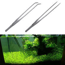 27cm Fish Tank Tongs Aquarium Stainless Steel Live Plant Shrimp Reef Tank Tweezers