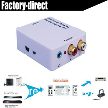 Digital to analog audio converter with power adapter coaxial/toslink to L/R analog audio with 3.5MM headphone out