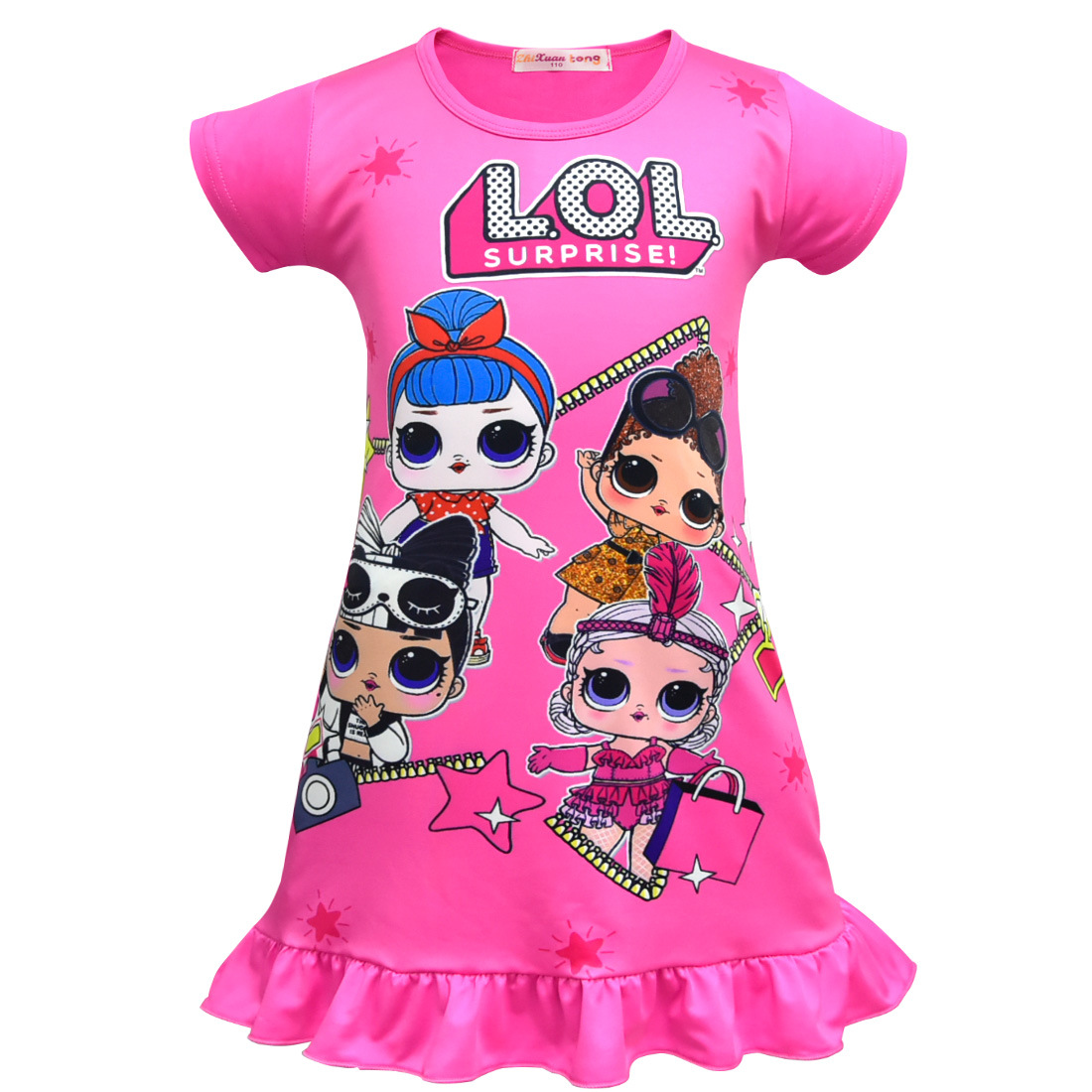 New arrival  girls lol Doll Dress Party Holiday Children Clothes Princess baby Girl Dresses home clothing pajamas costume kids