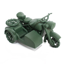 The latest models of World War II German motorcycle models military war scene equipment, children's best gift