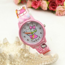 2017 Doraemon cat Hello Kitty Cartoon Watches Kid Girls Wristwatch children Quartz watch montre enfant montre femme