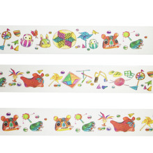 Fans Kite Rabbit Washi Paper Tape Scrapbooking Tools Decorative Cinta Adhesive Decor Japanese Stationery sticker Masking Tape