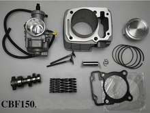 CBF150 Modified Upgrade To CBF233 Big Bore Motorcycle Cylinder Kits With PE30 Carburetor And Camshaft Valves Spring