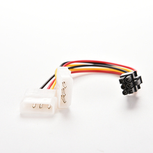 2 IDE Dual 4pin Molex IDE Male to 6 Pin Female PCI-E Y Molex IDE Power Cable Adapter Connector for video cards(China)