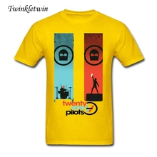 Personalized T Shirts Twenty One Pilots T-shirt Hot Men Fashion Tee Adult 100% Cotton Rock Style Trend Tee Shirt Crew Neck