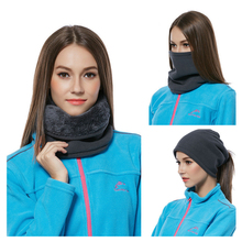3in1 Outdoor Winter Thicken Warm Fleece Neck Warmer Snood Scarves Men Bufanda Ski Bicycle Scarf Women Cachecol Feminino W0