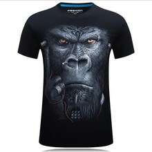 Fashion 3D T-shirt Mens Hot 2017 Summer Animal Snake Tiger Wolf Lion Printed T-shirts Men Cotton Casual Brand T shirt size S-6XL