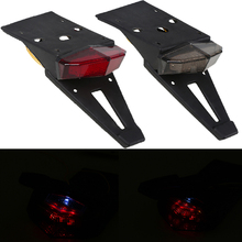Universal Motorcycle Bike Rear Fender Taillights LED Stop Lamps Enduro Tail Lights For EXC Yamaha R1 R3 R6 Z750 Z1000 Cafe Racer
