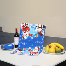 New Arrival! Christmas Theme Printed Multi-function Kitchen Towels  Dish Rag  Microfiber Fabric Tea Towels