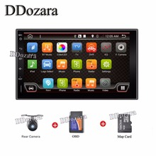 2016 Newest 2 Din 100% Pure Android 6.0 Universal Car Dvd Player Pc Gps Navigation Stereo Video Multimedia Capacitive Screen